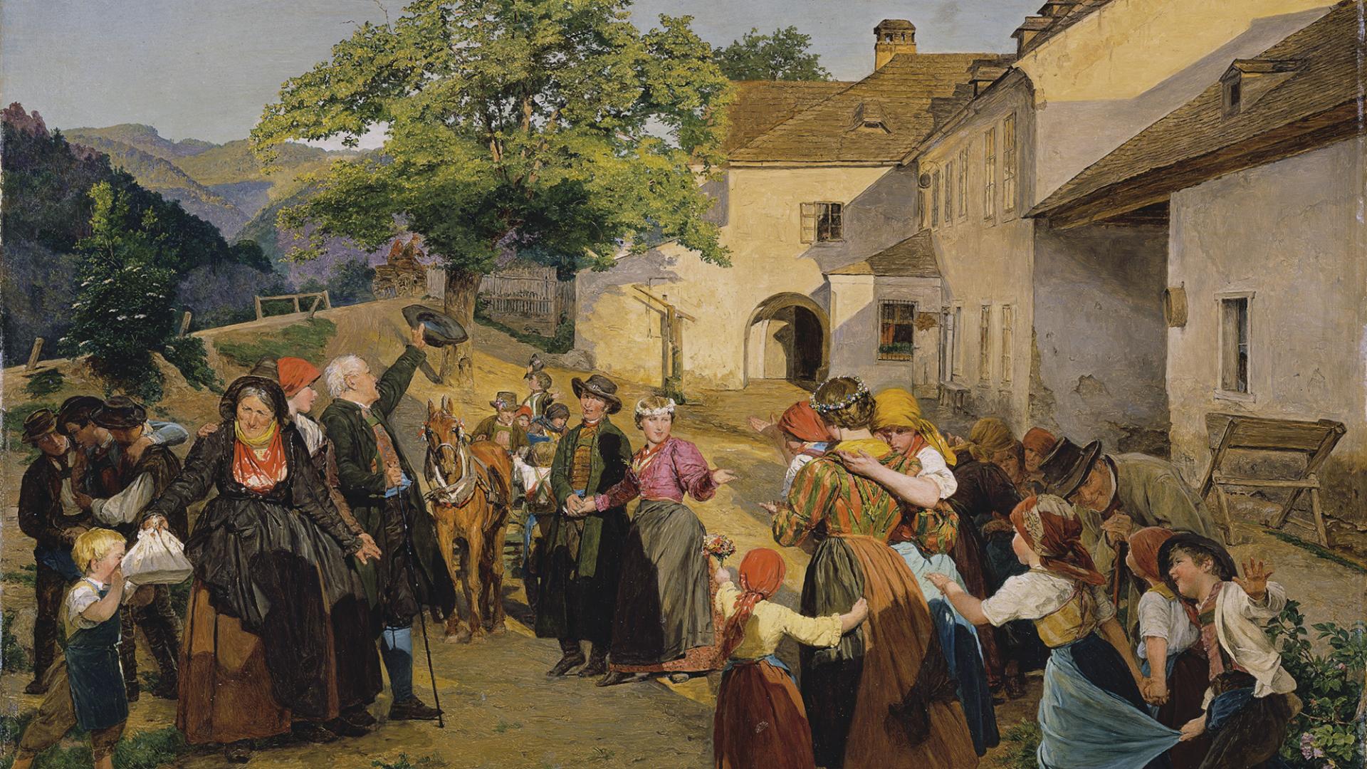 Die Höldrichsmühle als Kulisse für Bilder von Ferdinand G. Waldmüller